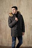 Куртка чоловіча DVMens WINTER-34 ХАКІ 100% поліестер 52(Р), фото 4