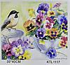 Картина по номерам KTL 1117 Синица и фиалки, 40 х 30 см, в коробке
