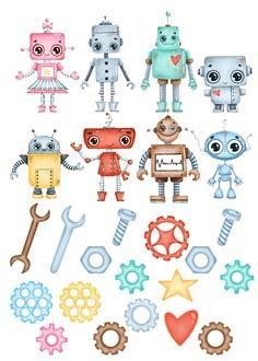 "Вафельна картинка  ""Роботи"""