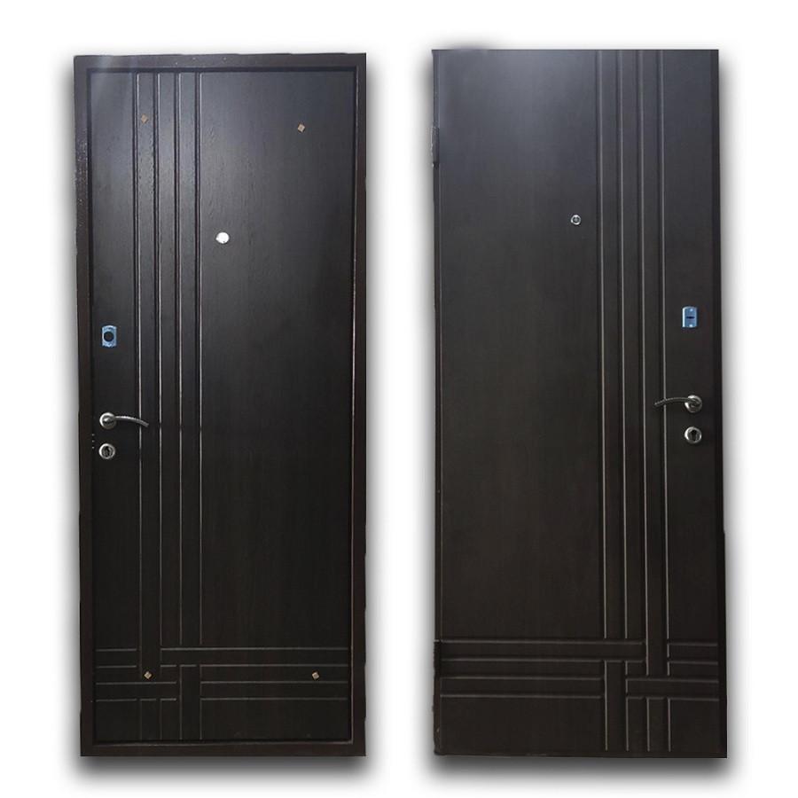 Дверь брон. 960 *70 МДФ накл. Comfort Британика правая улица орех темный BRONX