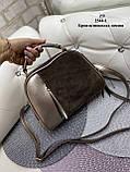 Женская комбинированная сумочка-клатч замш/кожзам, фото 2