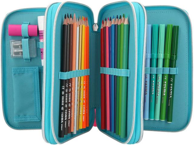 Depesche 10819 Pencil Case with 3 Zips and LED with Pens by Lyra, Miss Melody