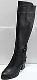 Сапоги зимние женские высокие кожаные от производителя КЛ2143, фото 6