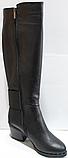 Сапоги зимние женские высокие кожаные от производителя КЛ2143, фото 7