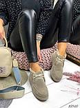 Женские зимние ботинки- лоферы Лоро на шнурках, натуральная кожа и замш много цветов, фото 4