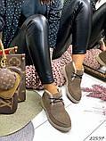 Женские зимние ботинки- лоферы Лоро на шнурках, натуральная кожа и замш много цветов, фото 7
