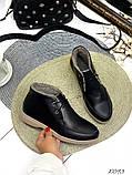 Женские зимние ботинки- лоферы Лоро на шнурках, натуральная кожа и замш много цветов, фото 8