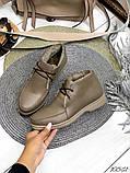 Женские зимние ботинки- лоферы Лоро на шнурках, натуральная кожа и замш много цветов, фото 9