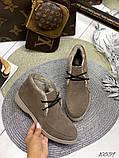 Женские зимние ботинки- лоферы Лоро на шнурках, натуральная кожа и замш много цветов, фото 10