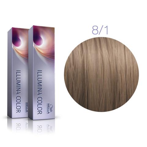 Wella illumina color 8/1 светлый блондин пепельный