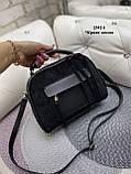Жіноча комбінована сумочка-клатч замш/кожзам, фото 2