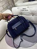 Жіноча комбінована сумочка-клатч замш/кожзам, фото 4