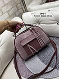 Жіноча комбінована сумочка-клатч замш/кожзам, фото 3