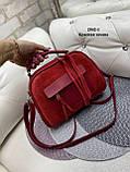 Женская комбинированная сумочка-клатч замш/кожзам, фото 7