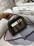 Женская комбинированная сумочка-клатч замш/кожзам, фото 6