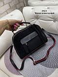 Жіноча комбінована сумочка-клатч замш/кожзам, фото 8
