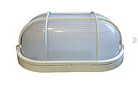 Герметичный светильник ЖКХ 10Вт 6500K IP54, овал с решеткой