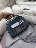 Женская комбинированная сумочка-клатч замш/кожзам, фото 4