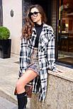Жіноче довге пальто - сорочка без підкладали в клітку, на гудзиках (р. S-L) 21020150, фото 8