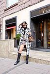 Жіноче довге пальто - сорочка без підкладали в клітку, на гудзиках (р. S-L) 21020150, фото 7