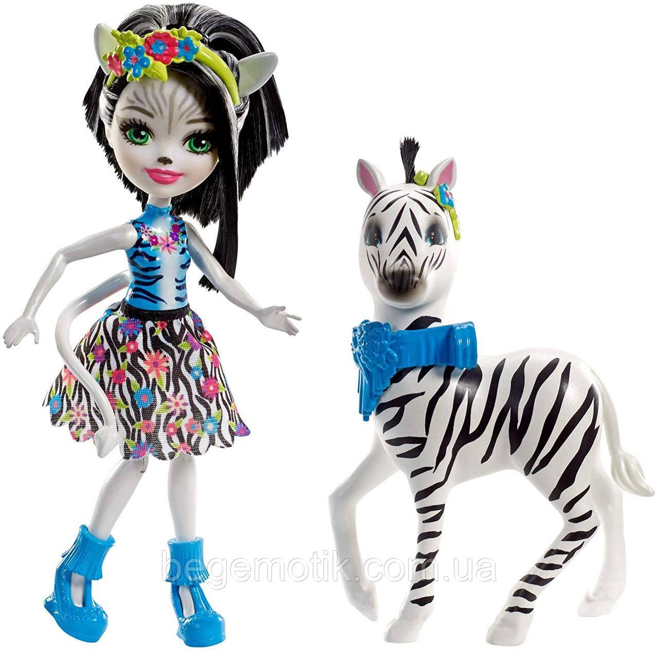 Кукла Энчантималс Зебра Зелена и Хуфит Enchantimals FKY75 Zelena Zebra Doll