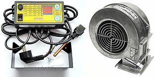 Автоматика ATOS + WPA120 ZW вентилятор для котла