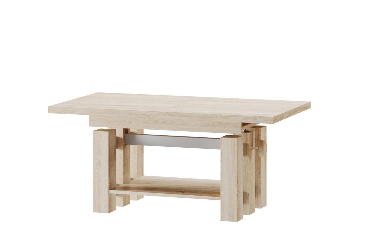 Стол-трансформер журнальный/обеденный деревянный SALI Szynaka дуб сонома