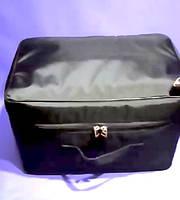 Черная сумка для парикмахера 40*27*25см с чехлом для ножниц и косметичкой, фото 1