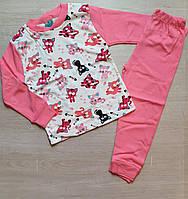 """Пижама детская """"Cats"""" 5-8 лет Розовая Оптом"""