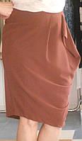 Шелковая терракотовая юбка Cristina Gavioli