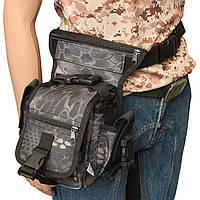Тактична стегновий сумка MFH Mandra Wood нічний 30701N