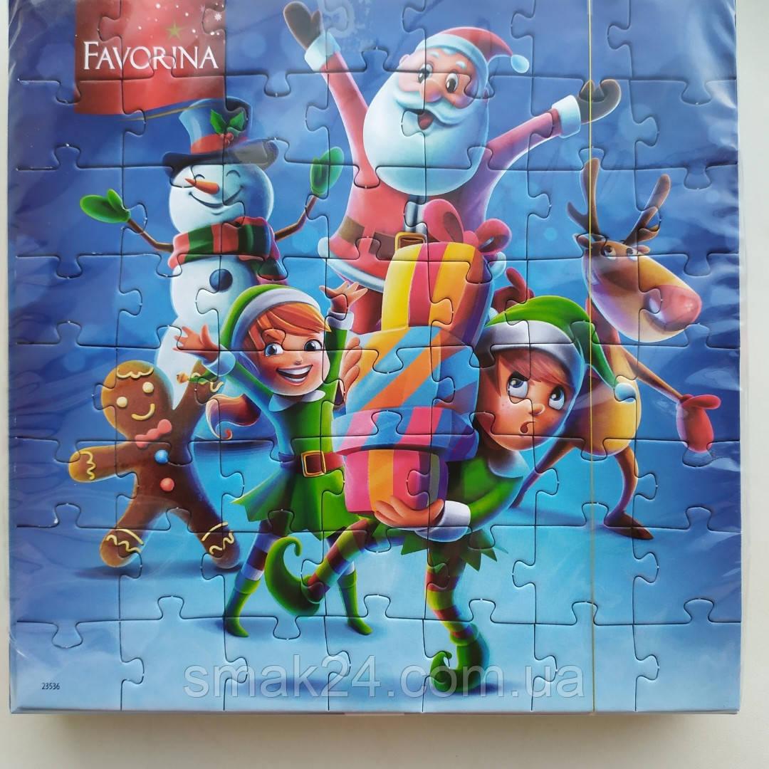 Шоколадні цукерки + пазли Favorina 120г Німеччина