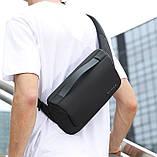 Сумка-бананка поясна Bange BG 77111 вологостійка борсетки сумка через плече колір чорний, фото 4