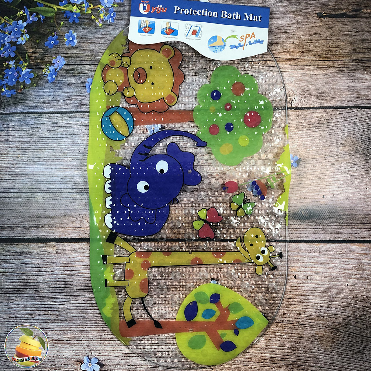 Дитячий Аква килимок для купання Розмір: 65х 35 см (21047-1)