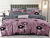 Полуторный комплект постельного белья 150*220 сатин_хлопок 100% (15621)