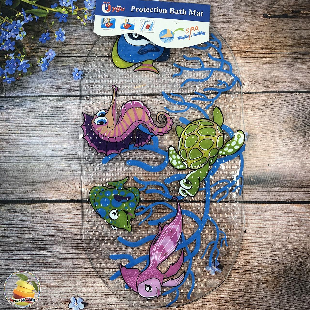 Аква коврик на присосках для купания малыша Размер: 65х 35 см (21047-2)