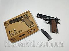 Игрушечный пистолет / Металлический пистолет спринговый Кольт 1911 Colt на пульках C.8