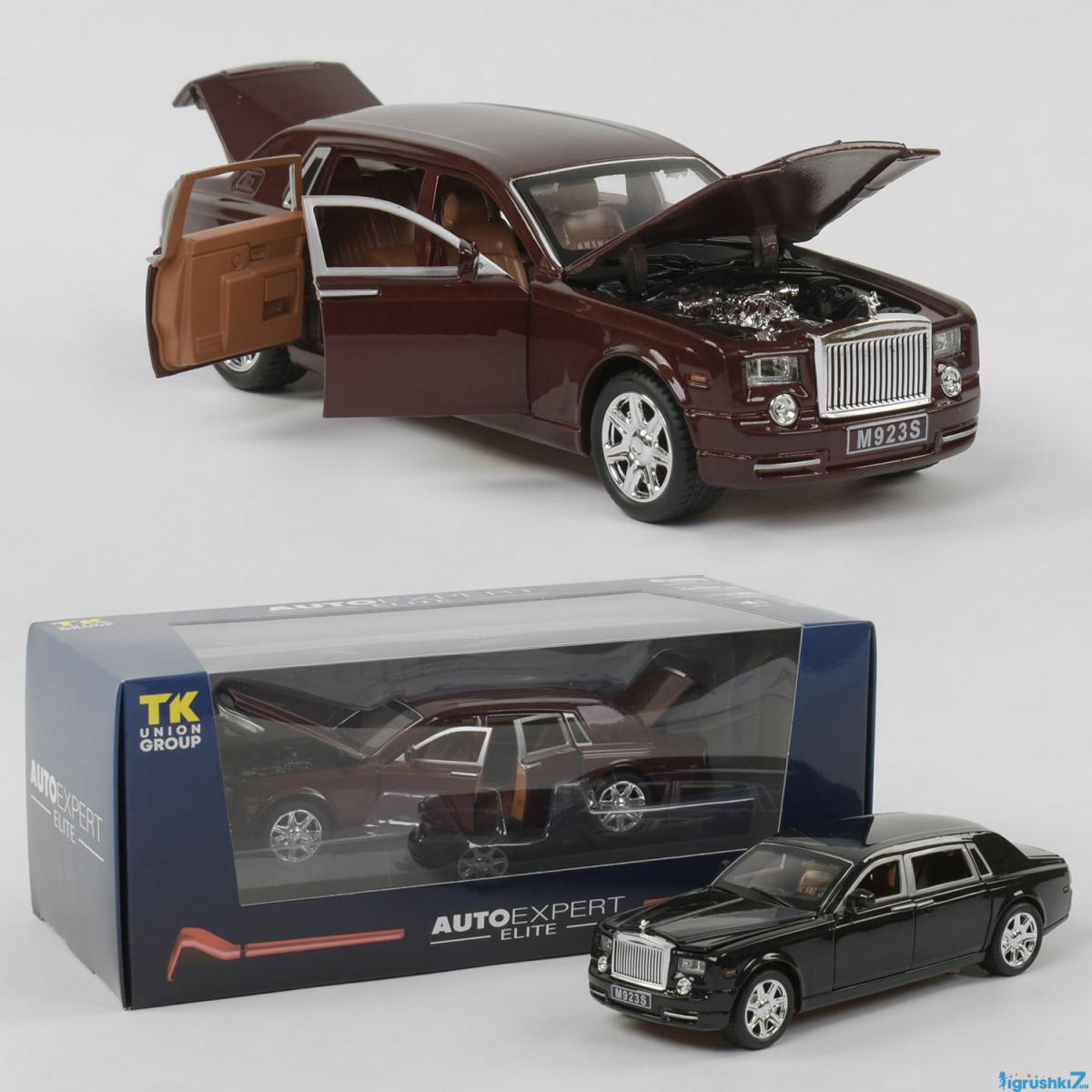 """Машинка металлическая """"Autoexpert"""" EL 2566 Лимузин Rolls Royce Phantom 1:24 (Коричневый)"""
