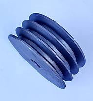 Шкив на вал 25 мм диаметр 150 мм 3 ручья профиль Б, фото 2