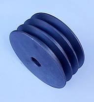 Шкив на вал 25 мм диаметр 150 мм 3 ручья профиль Б, фото 3