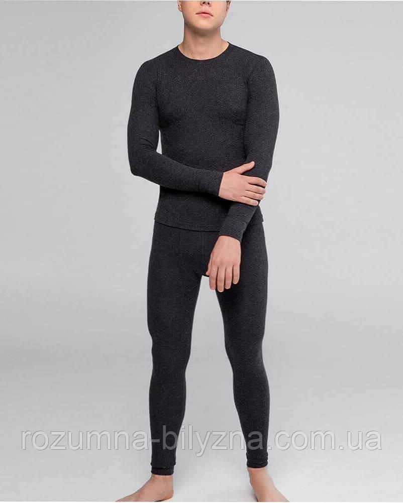 Комплект термобілизни чоловічий джемпр+кальсони у темно-сірому кольорі. ТМ Hetta. Швеція. S. M. L. XL. XXL.