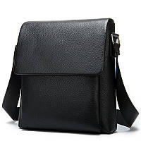 Мужская сумка через плечо Натуральная кожа Барсетка Мужская кожаная сумка для документов планшет Черная