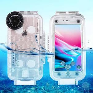 Водонепроницаемый противоударный чехол для iPhone 7 Plus & 8 Plus 40m  (Waterproof Diving Housing Case) PULUZ