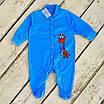 Нежный яркий нарядный детский хлопковый комбинезон с принтом жирафа, удобная одежда для новорожденных, фото 3