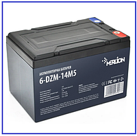 Тяговый аккумулятор Merlion 6-DZM-14 12V 14Ah M4, фото 1