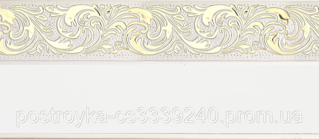 Лента декоративная на карниз, бленда Ажур 4 №01 Белый 70 мм на усиленный потолочный карниз КСМ