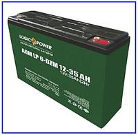 Тяговый аккумулятор LP 6-DZM-35 Ah свинцово-кислотный, фото 1