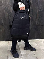 Рюкзак городской мужской, женский, Nike AIR (Найк) Черный Реплика Логотип Белый
