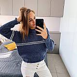Женский вязаный свитер соты с отворотами на манжетах и горловине (р. 42-46) 404998, фото 4