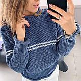 Женский вязаный свитер соты с отворотами на манжетах и горловине (р. 42-46) 404998, фото 10